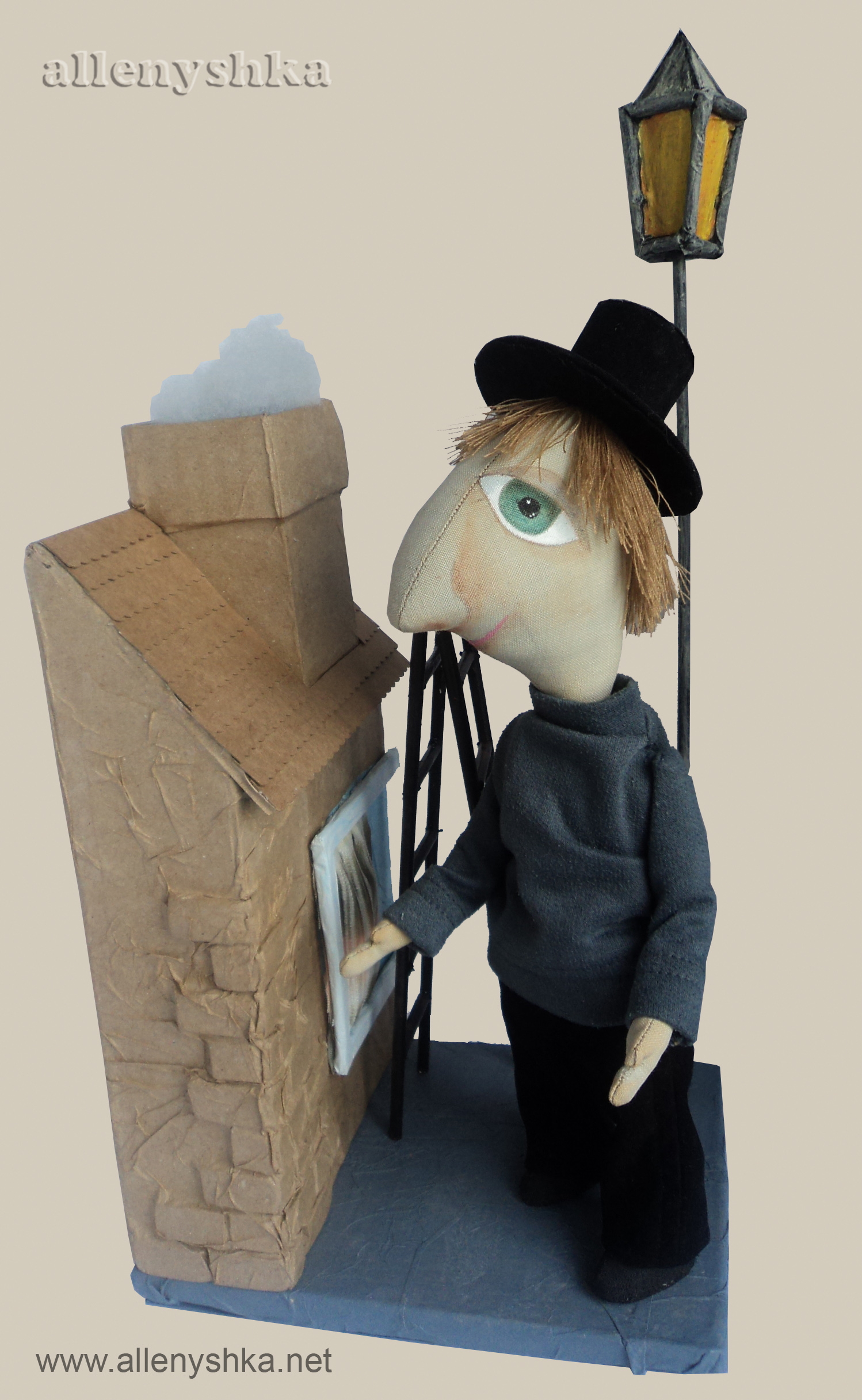doll maker, process, chimney sweep